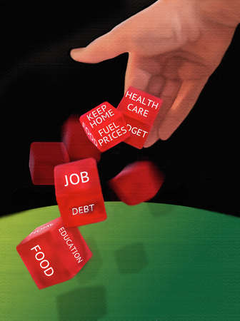 Hand rolling life concerns dice