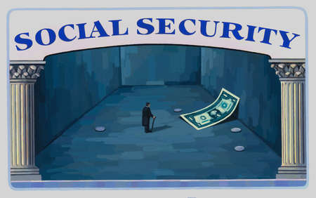 Man in Social Security Card Looking at limited funds