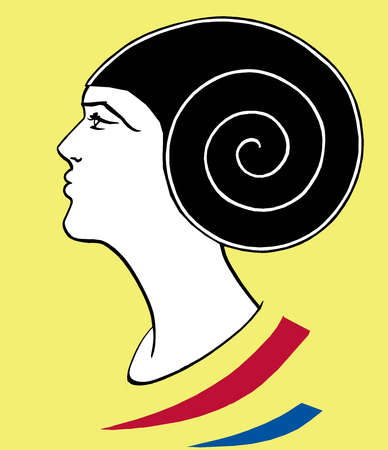 Woman with spiral head