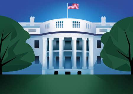 American flag flying on White House