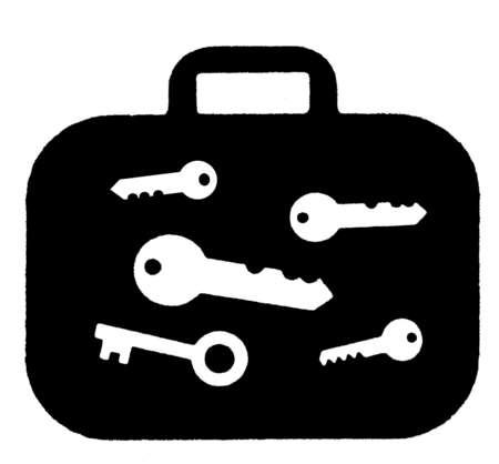 X-ray of keys inside suitcase