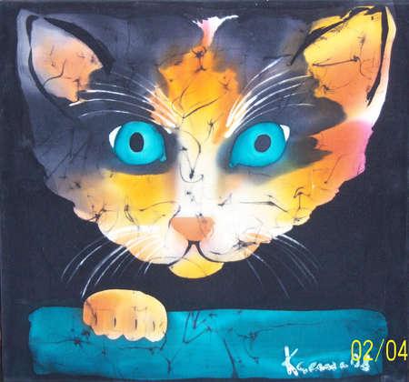 Illustration of alert cat