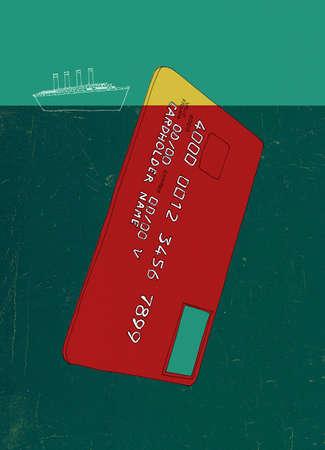 Ship nearing large credit card iceberg