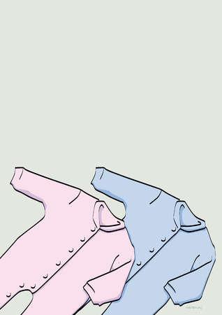 Pink and blue baby pajamas