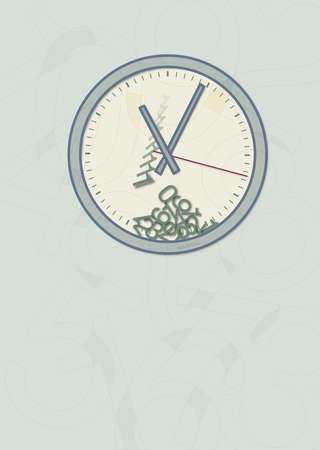 Numbers falling toward bottom of clock