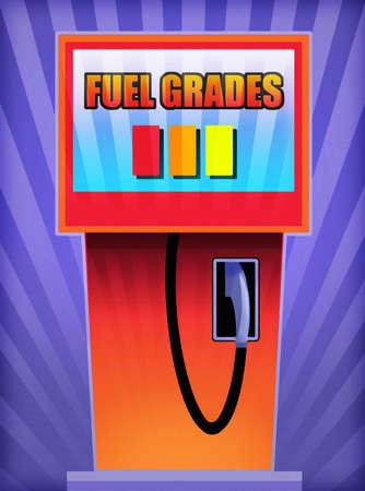 Fuel Grades text on fuel pump