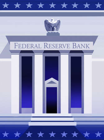 United States Federal Reserve Bank entrance