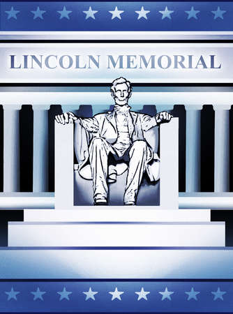 Statue of President Abraham Lincoln at Lincoln Memorial