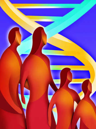 Double helix behind family