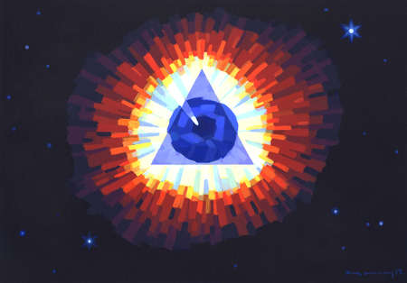 All-Seeing eye within Triangle