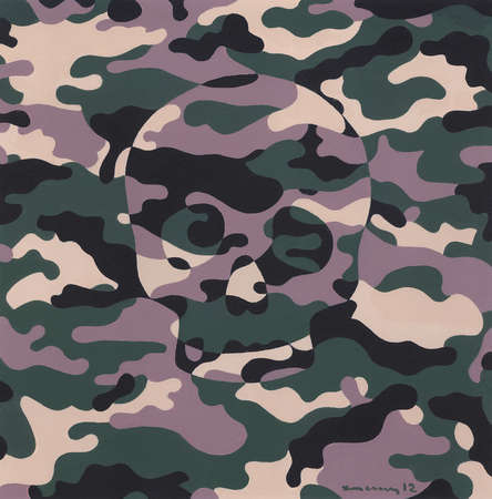 Skull within Camouflage pattern