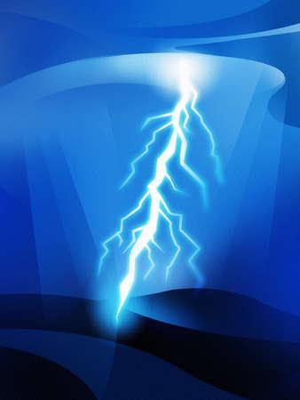 Lightning striking from sky