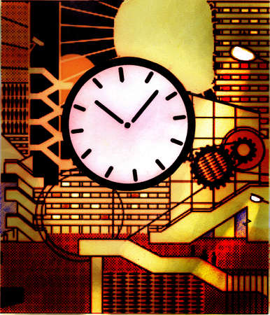 Clock and cogs