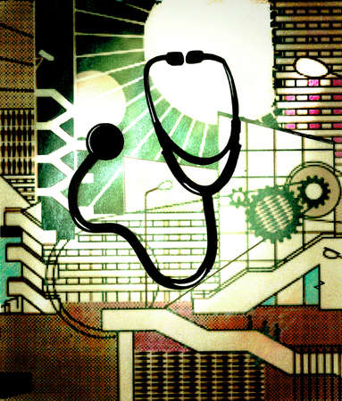 Stethoscope and cogs