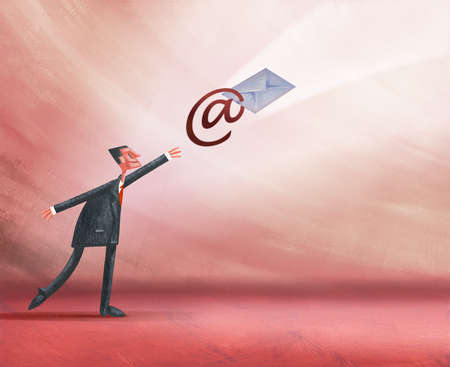 Businessman Using Email