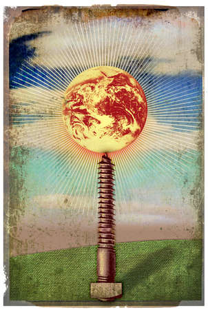 Earth Poised Atop a Screw