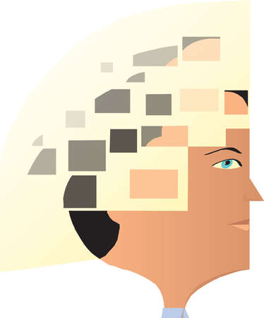Squares over man?s head