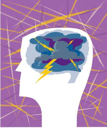 Storm in man's head