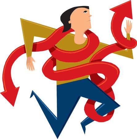 Woman tangled in arrows