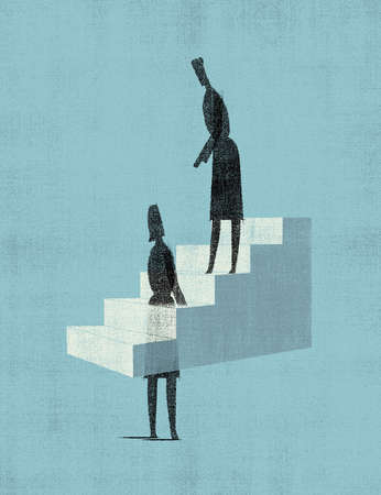 Stair Helper - 2 women, one on stairs, one in them