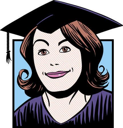 Portrait of smiling graduate