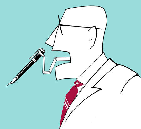 Man With a Pen for a Tongue