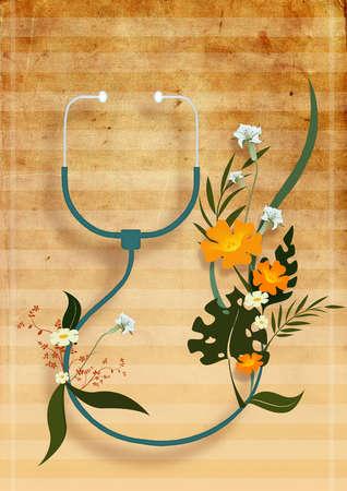 Stethoscope with wildflowers