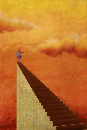 person at top of stairway to the sky