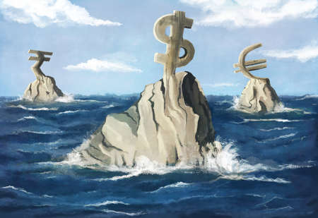 Currency Symbols on icebergs