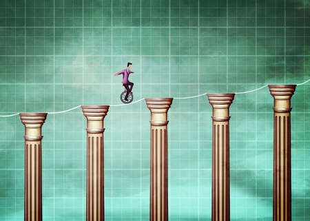 man on a unicycle riding graph