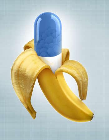 Banana peeled to reveal medicine