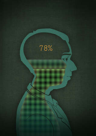 Numbers in a businessman's head
