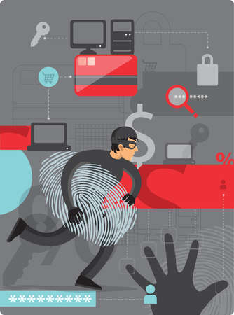 Man stealing identities