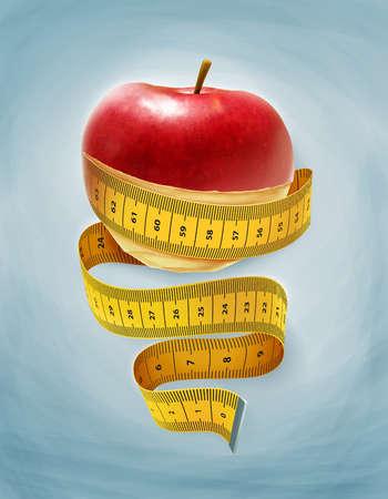 Apple peel turning into tape measure
