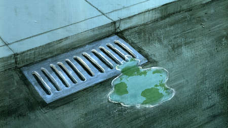 Earth Going Down the Sewer