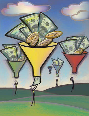 People reach for money that is going through funnels