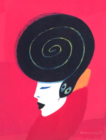 Woman With a serpent coiled around her head