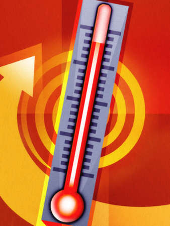 Thermometer measuring heat