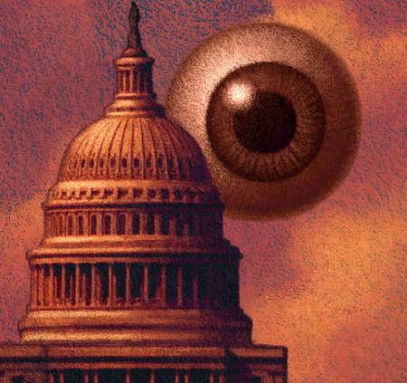 Large eye behind the U.S. Capitol