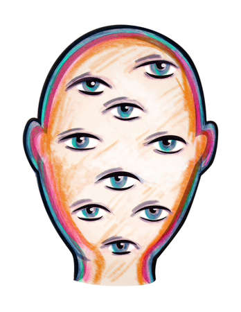 Face with multiple eyes