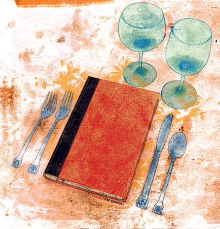 Book as part of table setting