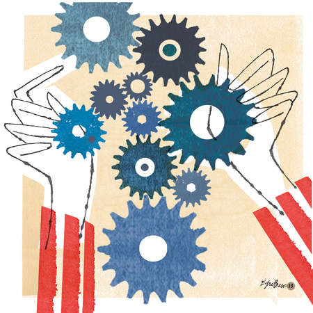 Hands and gears