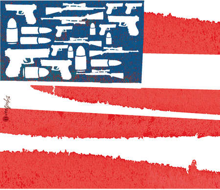 Democracy American Flag American Flag With Guns as