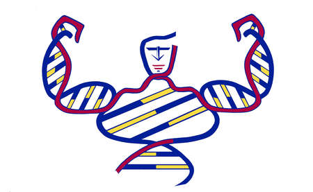 DNA helix as a strong man