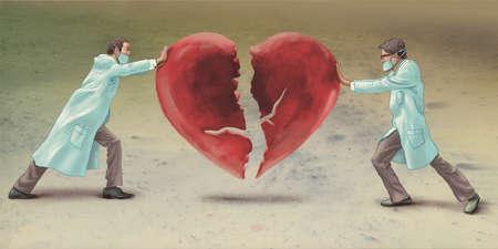 Doctors unifying heart
