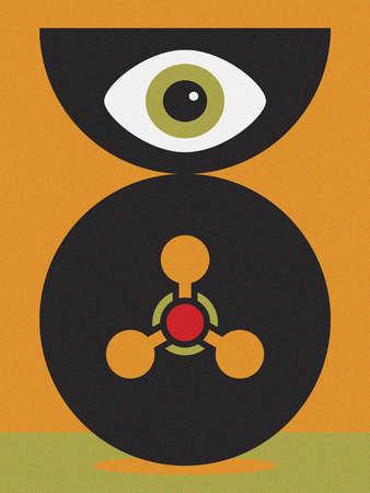 Eye overseeing machinery