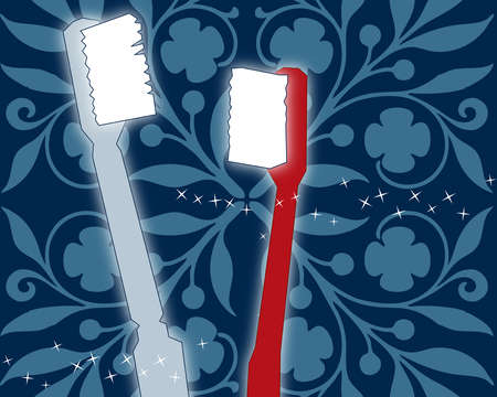 Pair of toothbrushes