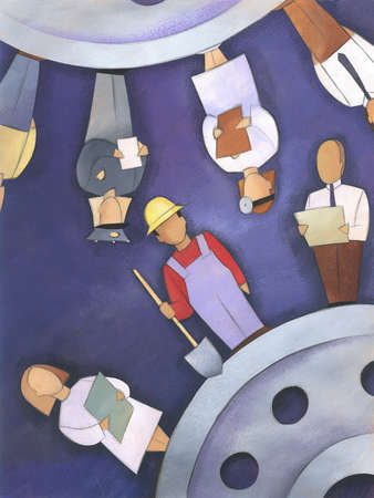 Workers as cogs on a wheel