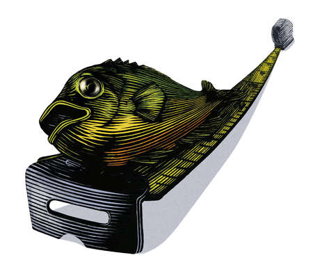 A fish on a measuring tape