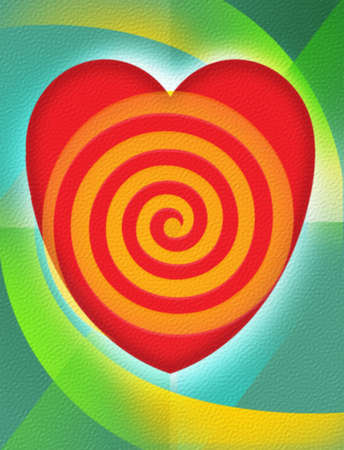 Heart with a target.